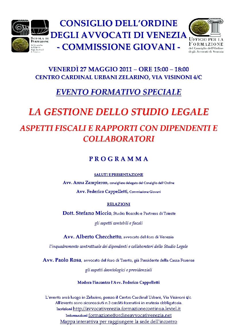 locandina Convegno Commissione Giovani